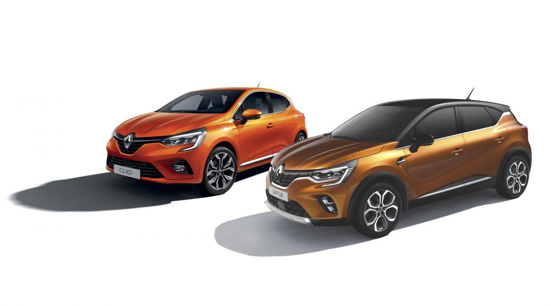 Renault Clio en Captur driekwart voor