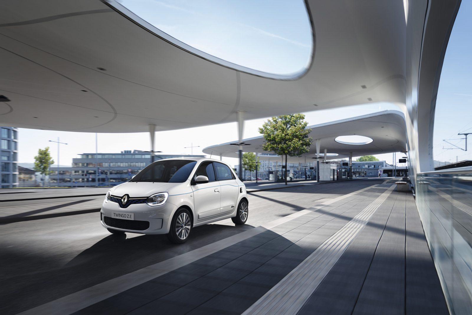 Renault TWINGO Electric driekwart voor