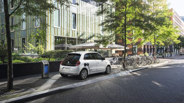 Renault TWINGO Electric driekwart achter