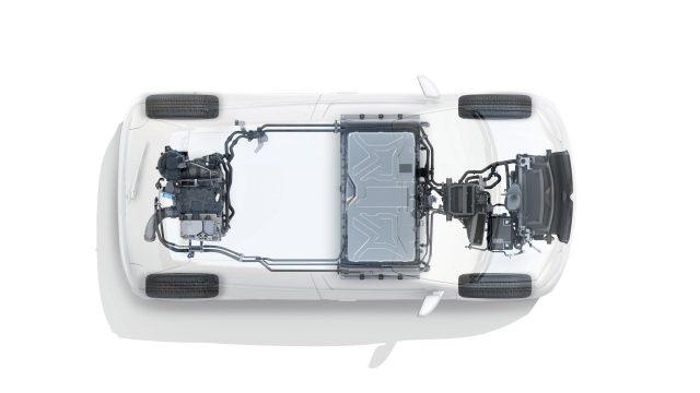 Renault TWINGO Electric technische doorsnede