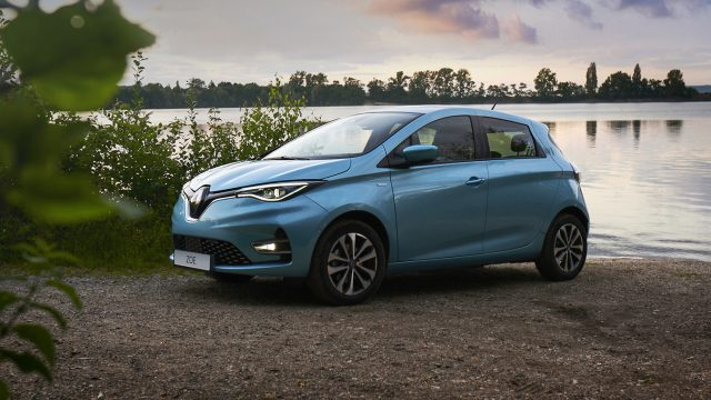 Renault ZOE driekwart voor