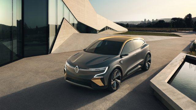 Renault MEGANE eVISION driekwart voor