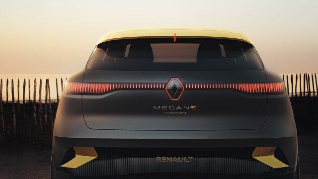 Renault MEGANE eVISION achter