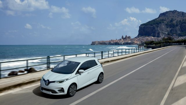 Witte Renault ZOE Riviera Limited Edition