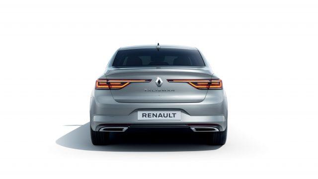 Grijze Renault Talisman achter