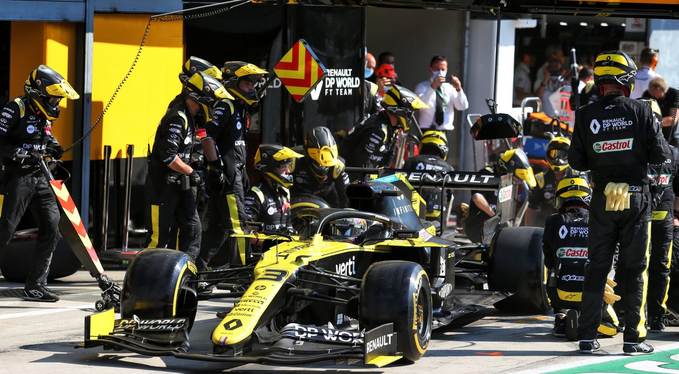 Daniel Ricciardo in zijn Formule 1 auto tijdens de Italiaanse Grand Prix