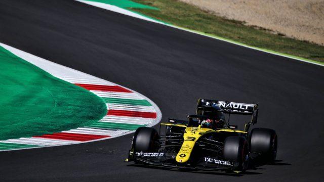 Daniel Ricciardo in zijn Formule 1 auto tijdens de Pirelli Grand Prix