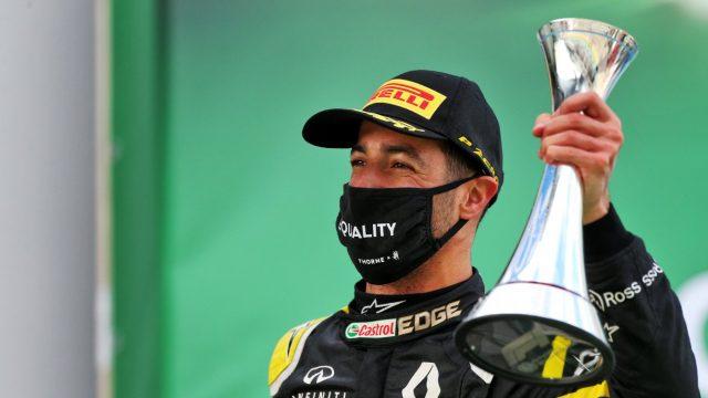 Ricciardo op het podium